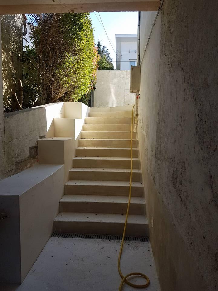 escaliers extérieurs à Saintes - maçonnerie et rénovation 17